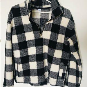 Old navy Sherpa quarter-zip sweatshirt